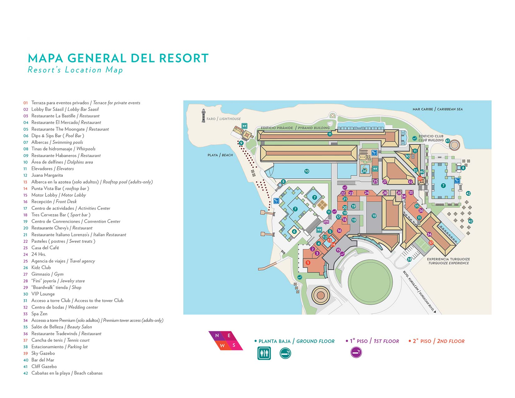 Cancun Hotels All Inclusive Map Contacts Hyatt Ziva Cancun
